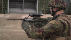 US - Army - Shooting Training 21 - Steyr reloading Stock Footage