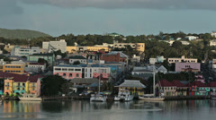St Johns Antigua city marina colorful business 2 HD 1328 Stock Footage