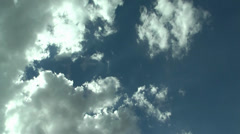 Sequence of images of clouds on video Stock Footage