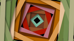 Spinning square shapes. Stock Footage