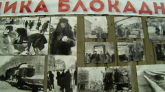 Pictures of the siege of Leningrad Stock Footage