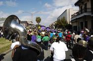 Stock Photo of Mardi Gras Second Line