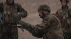 US - Army - Shooting Training 25 - Steyr reloading Stock Footage