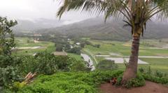 Hanalei Scenic overlook ,Northern Kauai Stock Footage
