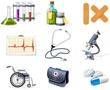medicine and healthcare icons - stock illustration