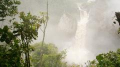 San Rafael Falls, Ecuador. Time-lapse Stock Footage