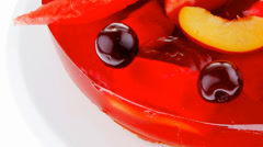 Fruits jelly cake and watermelon Stock Footage