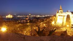 Castle of Buda Budapest Hungary Timelapse 1 fisheye Stock Footage