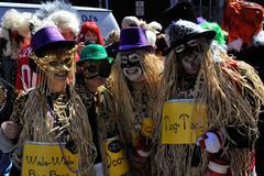 Mardi Gras Osallistuja Kuvituskuvat