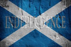 Scotland independence flag. Stock Photos