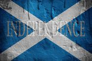 Stock Photo of scotland independence flag.