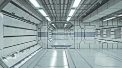 Abstract sci-fi interior scene (LOOP) Stock Footage