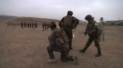 US - Army - Shooting Training 29 - Getting in position Stock Footage