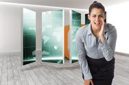 Stock Illustration of Composite image of businesswoman shouting