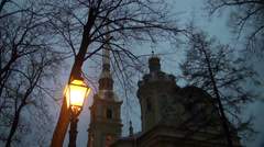 Lantern of the Peter and Paul fortress in St. Petersburg Stock Footage