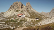 Stock Video Footage of Rifugio di Lavaredo mountain refuge