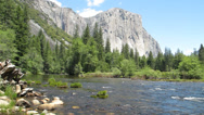 Stock Video Footage of Merced River & El Capitan, Yosemite National Park, 30s 720p