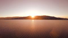 Lake panorama at sunset. landscape. magic hour. Stock Footage