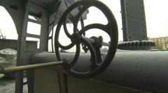 Naval equipment cruiser Aurora Stock Footage