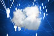 Stock Illustration of Composite image of cloud computing background