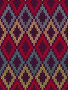 Knit woolen seamless jacquard ornament texture. fabric color tracery backgrou Stock Illustration
