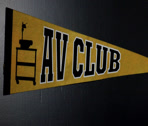 Stock Video Footage of av club sign