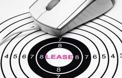 lease target - stock photo