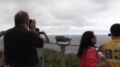 Kilaua Point ,whale watchers, Stock Footage