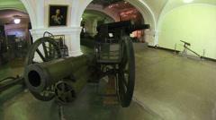 Ancient gun, firing cores - stock footage