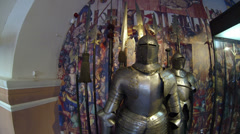 The knight's armor Stock Footage