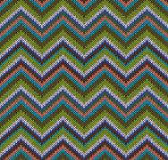 style seamless knitted pattern - stock illustration