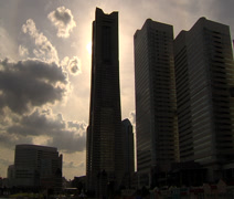 Yokohama Landmark Tower Timelapse Stock Footage