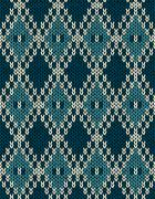 Knit woolen seamless jacquard ornament pattern Stock Illustration