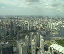 Yokohama harbour and city in timelapse Stock Footage
