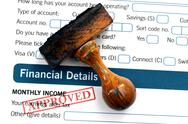 Stock Photo of bank form- approved