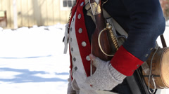 Continental Army - musket drill (Revolutionary War) Stock Footage