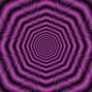 Purple Octagon Rings - stock illustration