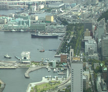 Yamashita park and waterfront in Yokohama Stock Footage