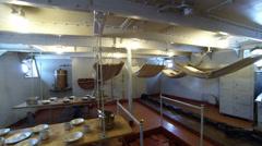 Room of sailors on the cruiser Aurora. Stock Footage
