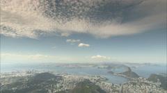 High angle of Rio De Janeiro Stock Footage