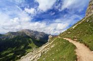 Stock Photo of hike in italian dolomites