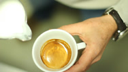 Stock Video Footage of Coffee drink in motion