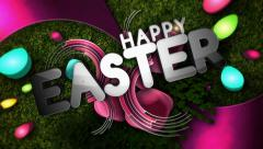 Happy Easter Glitz Stock Footage