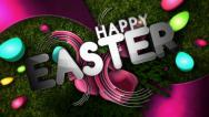 Stock Video Footage of Happy Easter Glitz