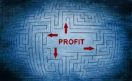 Stock Illustration of profit maze concept
