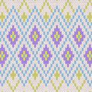 seamless pattern. knit woolen trendy ornament texture. fabric color tracery b - stock illustration