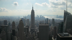 Midtown Manhattan and the Empire State Building in New York Stock Footage