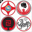 Stock Illustration of Combat karate martial arts kanku. LOGO SET
