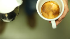 Coffee beans in motion Stock Footage