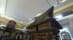 A wooden hut. Kunstkamera. Saint-Petersburg. Stock Footage